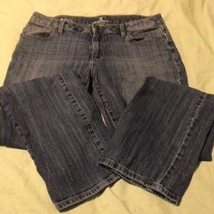 Liz Claiborne City Fit Straight Leg Jeans Sz 8